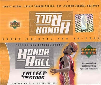 2003/04 Upper Deck Honor Roll Basketball 24 Pack Box