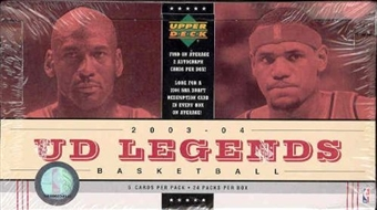 2003/04 Upper Deck Legends Basketball Hobby Box