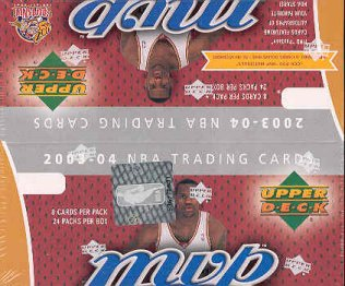2003/04 Upper Deck MVP Basketball 24 Pack Box