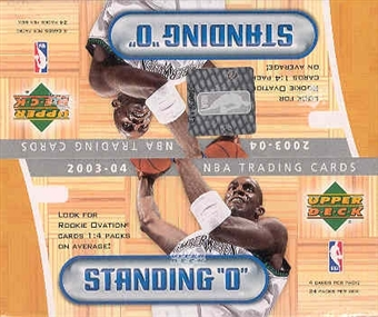 2003/04 Upper Deck Standing O! Basketball 24 Pack Box