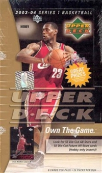 2003/04 Upper Deck Basketball Hobby Box