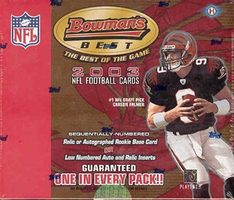 2003 Bowman's Best Football Hobby Box
