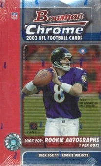 2003 Bowman Chrome Football Hobby Box