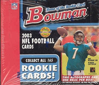 2003 Bowman Football Jumbo Box