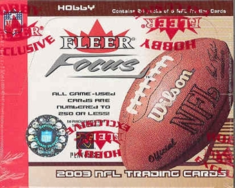 2003 Fleer Focus Football Hobby Box