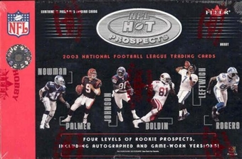 2003 Fleer Hot Prospects Football Hobby Box