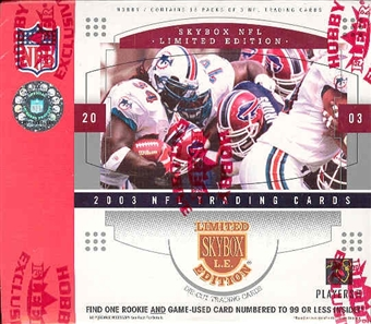 2003 Fleer Skybox Limited Edition Football Hobby Box
