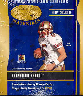 2003 Leaf Certified Materials Football Hobby Box