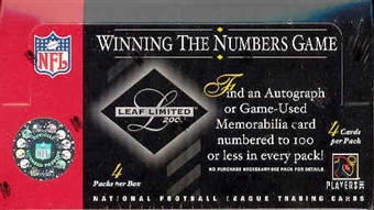 2003 Leaf Limited Football Hobby Box