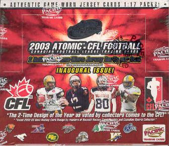 2003 Pacific Atomic CFL Football Hobby Box