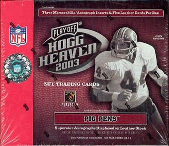 2003 Playoff Hogg Heaven Football Hobby Box