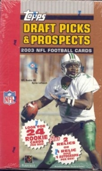 2003 Topps Draft Picks And Prospects Football Hobby Box
