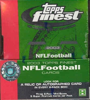 2003 Topps Finest Football Hobby 12-Box Case