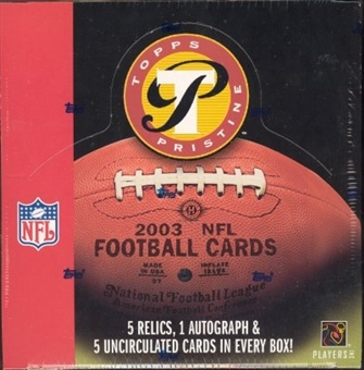2003 Topps Pristine Football Hobby Box