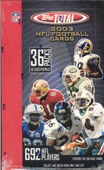 2003 Topps Total Football Hobby Box