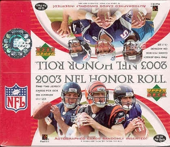 2003 Upper Deck Honor Roll Football 24 Pack Box