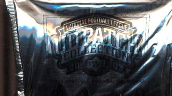 2003 Upper Deck Patch Collection Football Hobby Box Topper Pack