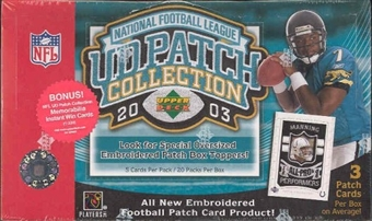 2003 Upper Deck Patch Collection Football Hobby Box