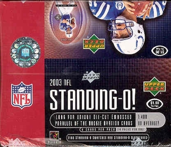 2003 Upper Deck Standing O! Football 24 Pack Box