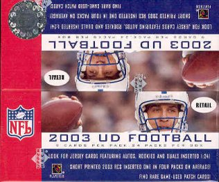 2003 Upper Deck Football 24 Pack Box