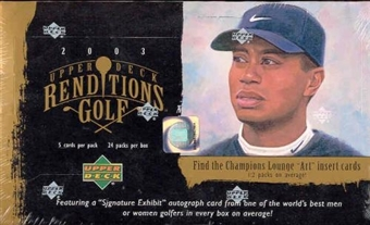 2003 Upper Deck Renditions Golf Hobby Box