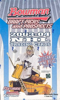 2003/04 Bowman Draft Picks & Prospects Hockey Hobby Box