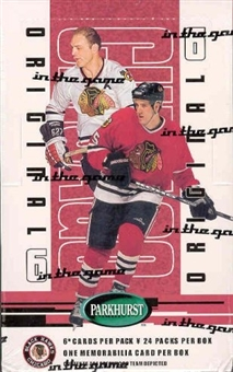 2003/04 BAP Parkhurst Original 6 Chicago Blackhawks Hockey Box