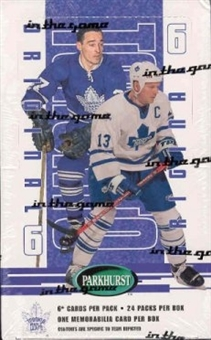 2003/04 BAP Parkhurst Original 6 Toronto Maple Leafs Hockey Hobby Box