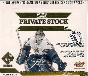 2003/04 Pacific Private Stock Reserve Hockey Hobby Box