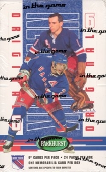 2003/04 BAP Parkhurst Original 6 New York Rangers Hockey Hobby Box
