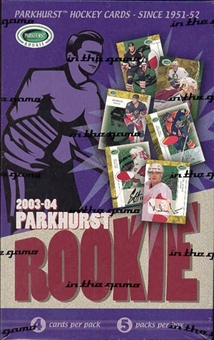 2003/04 Be A Player Parkhurst Rookie Hockey Hobby Box