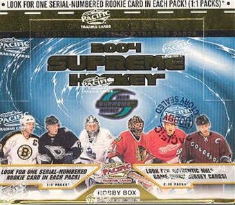 2003/04 Pacific Supreme Hockey Hobby Box