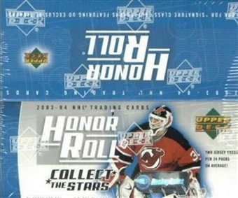 2003/04 Upper Deck Honor Roll Hockey 24 Pack Box