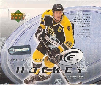 2003/04 Upper Deck Ice Hockey Hobby Box
