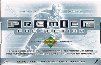 2003/04 Upper Deck Premier Collection Hockey Hobby Box