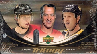 2003/04 Upper Deck Trilogy Hockey Hobby Box