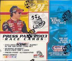 2003 Press Pass Racing Hobby Box