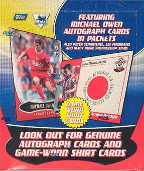 2003 Topps English Premier League Gold Soccer Hobby Box