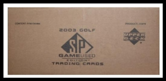 2003 Upper Deck SP Game Used Golf 6-Box Case
