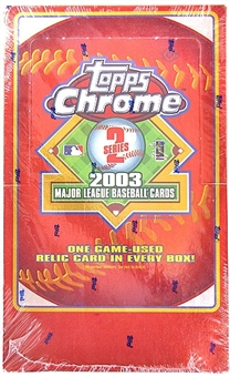 2003 Topps Chrome Series 2 Baseball Hobby Box