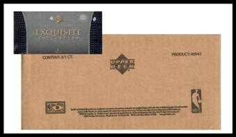 2004/05 Upper Deck Exquisite Basketball 3 Box Hobby Case