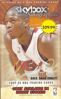 2004/05 Fleer Skybox Autographics Basketball 12 Pack Retail Box