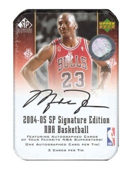 2004/05 Upper Deck SP Signature Basketball Hobby Tin (Box)