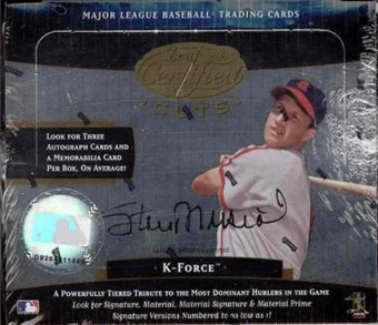 2004 Leaf Certified Cuts Baseball Hobby Box