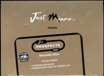 2004 Just Minors Just Prospects Baseball Memorabilia Edition Box
