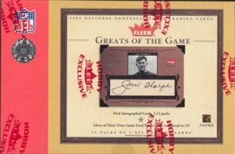 2004 Fleer Greats Of The Game Football Hobby Box