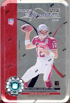 2004 Playoff Prime Signatures Football Hobby Tin (Box)