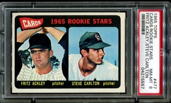 1965 Topps Baseball #477 Steve Carlton Rookie PSA 8 (NM-MT) *5567