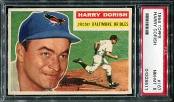 1956 Topps Baseball #167 Harry Dorish PSA 8 (NM-MT) *8511