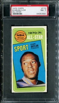 1970/71 Topps Basketball #113 Elgin Baylor All Star PSA 7 (NM) *3061
